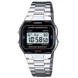 A163WA-1QES Casio stål retro digitalt herreur
